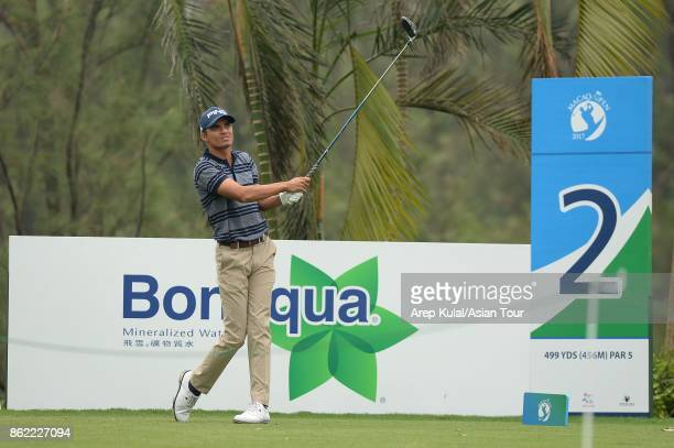Ajeetesh Sandhu of India pictured during practice ahead of the Macao Open at Macau Golf and Country Club on October 17 2017 in Macau Macau