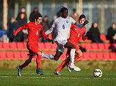 Ajibola Alese of England in action during the International Friendly match between England U15 and Turkey U15 at St George's Park on December 21 2015...
