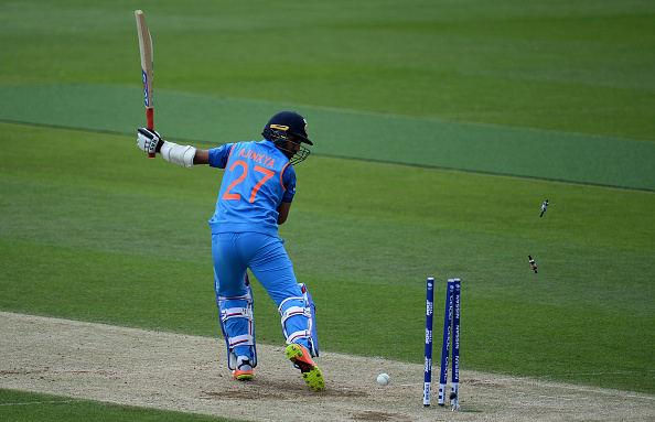 India v Bangladesh - ICC Champions Trophy Warm-up : News Photo