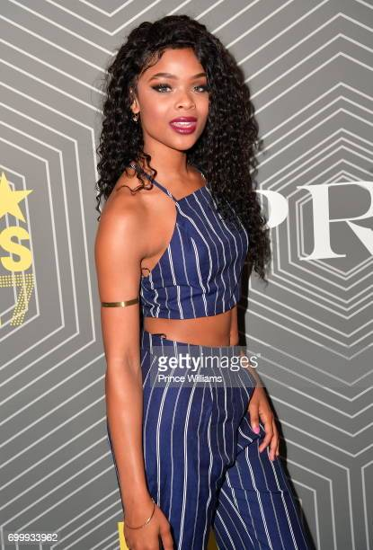 Ajiona Alexus attends Debra Lee PreBET Awards Dinner at The London West Hollywood on June 21 2017 in West Hollywood California
