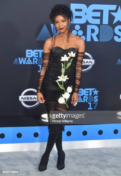 Ajiona Alexus attends the 2017 BET Awards at Microsoft Theater on June 25 2017 in Los Angeles California