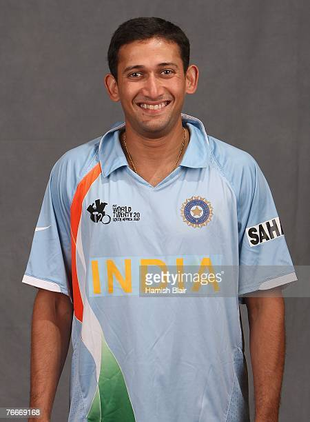 Ajit Agarkar of India poses for a photo during a portrait session at the Southern Sun Elangeni Hotel on September 11 2007 in Durban South Africa