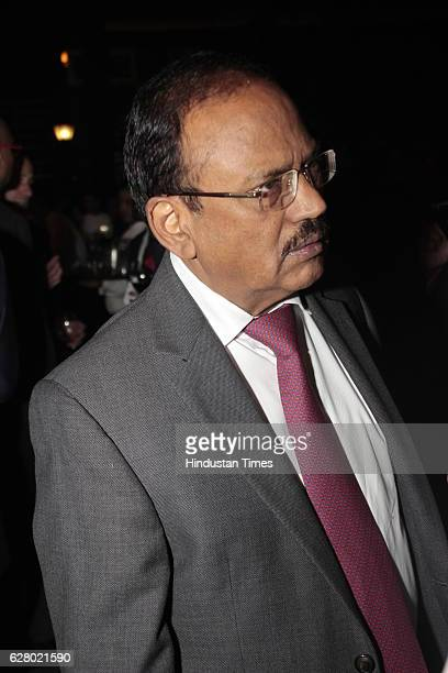 Ajit Doval during HT Leadership Summit gala dinner in the lawns of Taj Palace hotel on December 2 2016 in New Delhi India