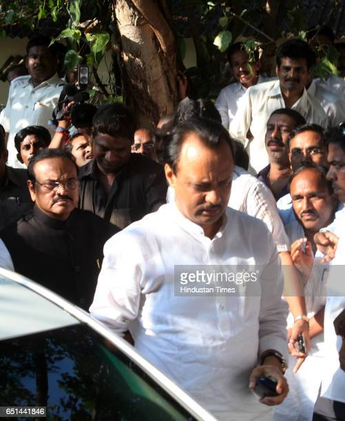 Ajit Pawar and Chagan Bhujbal arrive at NCP office in Mumbai Sharad Pawarís nephew Ajit Pawar is being declared as Deputy Chief Minster in NCP...