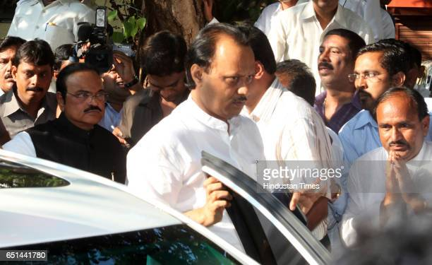 Ajit Pawar and Chaggan Bhujbal arrive at NCP office in Mumbai Sharad Pawars nephew Ajit Pawar is being declared as Deputy Chief Minster in NCP...
