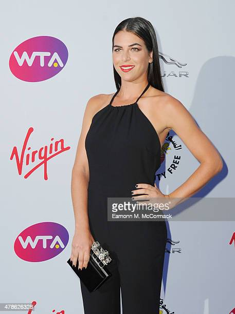 Ajla Tomljanovic attends the annual WTA PreWimbledon Party presented by Dubai Duty Free at The Roof Gardens Kensington on June 25 2015 in London...