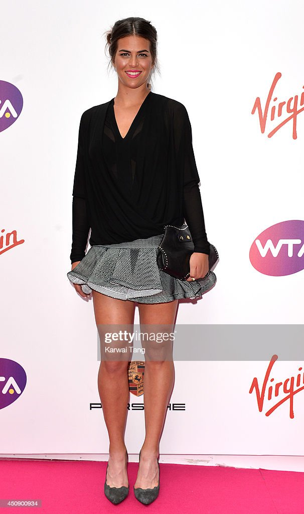 Ajla Tomljanovic attends the WTA Pre-Wimbledon party at Kensington Roof Gardens on June 19, 2014 in London, England.