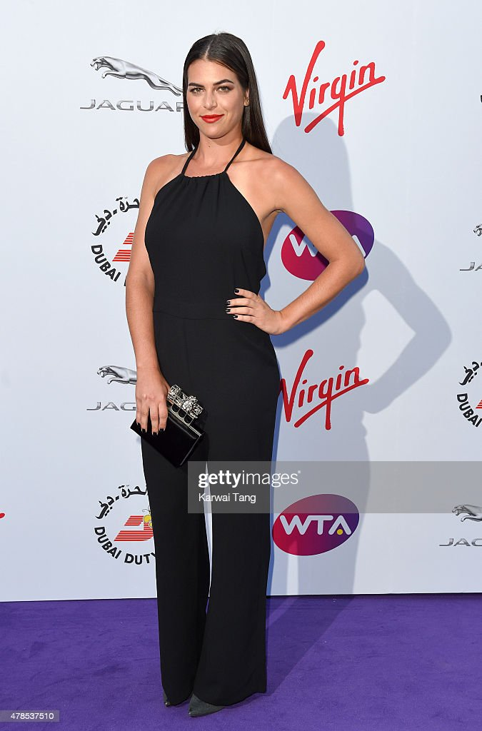 Ajla Tomljanovic attends the WTA Pre-Wimbledon Party at Kensington Roof Gardens on June 25, 2015 in London, England.