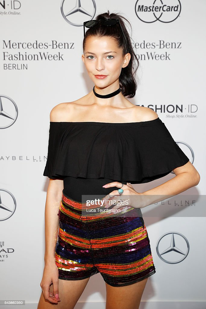 Ajsa Selimovic attends the Dimitri show during the Mercedes-Benz Fashion Week Berlin Spring/Summer 2017 at Erika Hess Eisstadion on June 30, 2016 in Berlin, Germany.