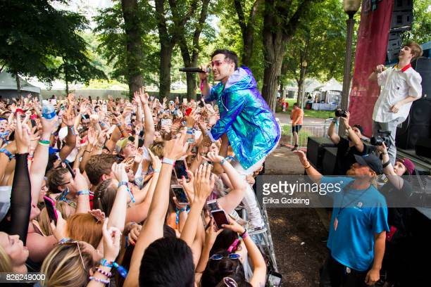 MAX aka Max Schneider and Whethan aka Ethan Snoreck perform on the BMI Stage during Lollapalooza at Grant Park on August 3 2017 in Chicago Illinois