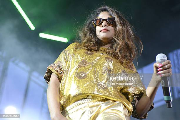 A aka Maya Arulpragasam performs during the Sasquatch Music Festival at the Gorge Amphitheatre on May 24 2014 in George Washington