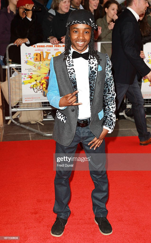 Akai attends the UK Premiere of 'All Stars' at Vue West End on April 22, 2013 in London, England.