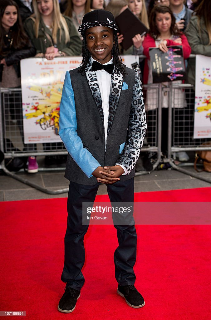 Akai Osei attends the UK Premiere of 'All Stars' at the Vue West End cinema on April 22, 2013 in London, England.