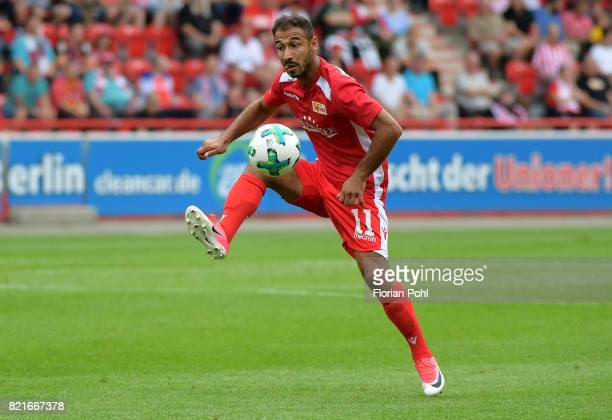 Akaki Gogia of 1 FC Union Berlin during the game between Union Berlin and the Queens Park Rangers on july 24 2017 in Berlin Germany