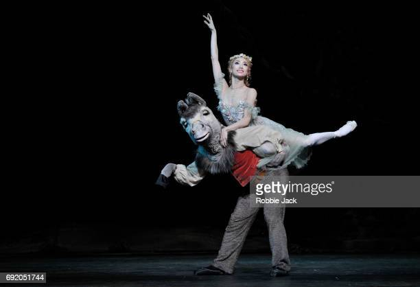 Akane Takada as Titania and Bennet Gartside as Bottom in the Royal Ballet's production of Frederick Ashton's The Dream at the Royal Opera House on...