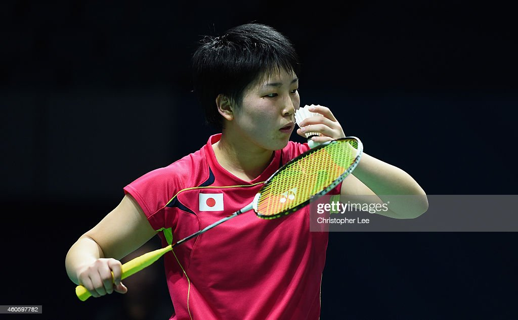 <a gi-track='captionPersonalityLinkClicked' href=/galleries/search?phrase=Akane+Yamaguchi&family=editorial&specificpeople=11382505 ng-click='$event.stopPropagation()'>Akane Yamaguchi</a> of Japan in action against Wang Yihan of China in the Womens Singles during day one of the BWF Destination Dubai World Superseries Finals at the Hamdan Sports Complex on December 17, 2014 in Dubai, United Arab Emirates.