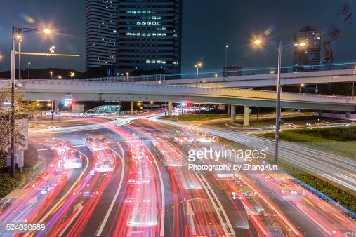Akasaka mitsuke intersection after dark