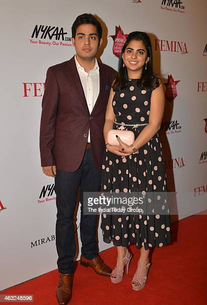 Akash Ambani with sister Isha Ambani at 11th Femina Beauty Awards in Mumbai
