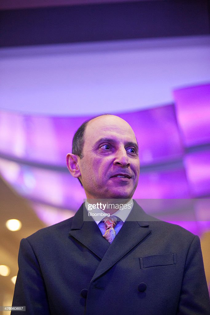 Akbar Al Baker, chief executive officer of Qatar Airways Ltd., looks on during the ITB travel fair at Messe Berlin exhibition center in Berlin, Germany, on Thursday, March 6, 2014. Al Baker said yesterday his company will be sticking with hard-wired inflight-entertainment systems. Photographer: Krisztian Bocsi/Bloomberg via Getty Images