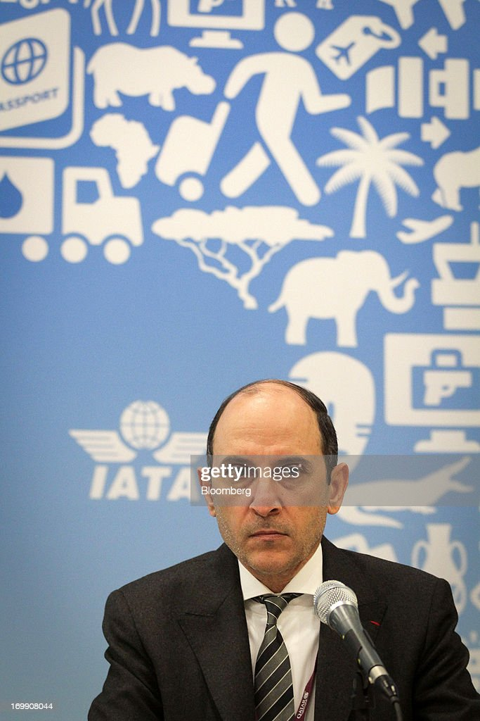 Akbar Al Baker, chief executive officer of Qatar Airways Ltd., pauses during the International Air Transport Association's (IATA) annual general meeting in Cape Town, South Africa, on Tuesday, June 4, 2013. Airline earnings will be 20 percent higher this year than forecast just three months ago as capacity cuts help pack planes to record levels, the International Air Transport Association said today. Photographer: Nadine Hutton/Bloomberg via Getty Images