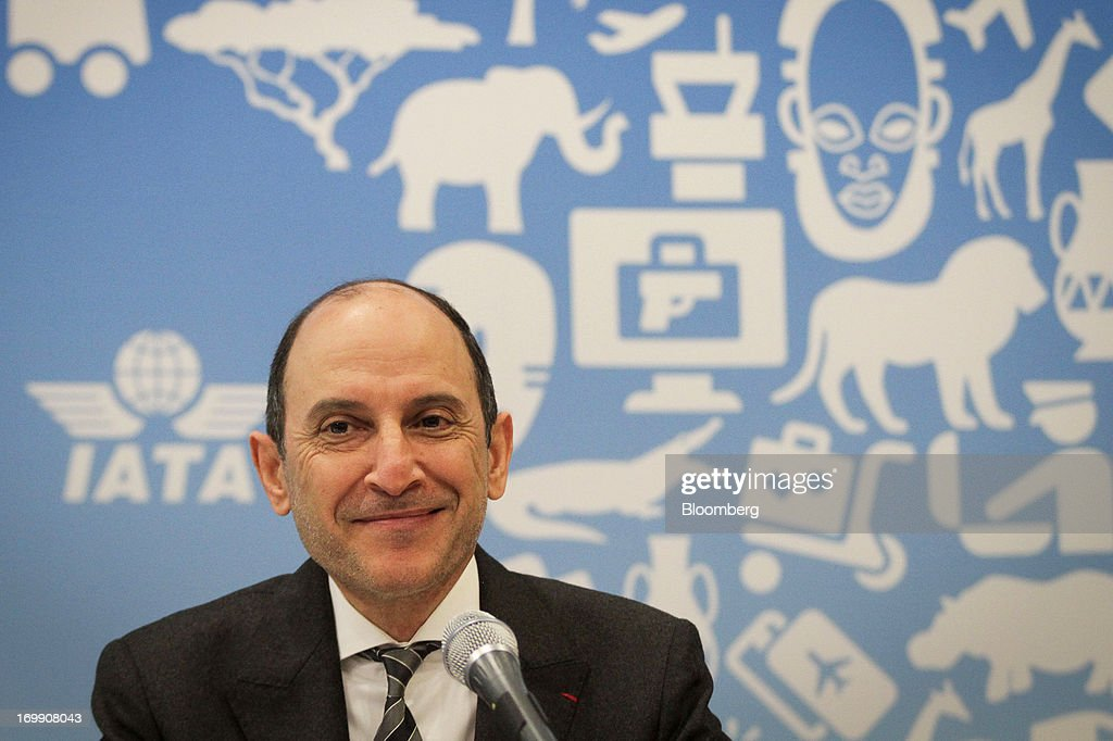 Akbar Al Baker, chief executive officer of Qatar Airways Ltd., reacts during the International Air Transport Association's (IATA) annual general meeting in Cape Town, South Africa, on Tuesday, June 4, 2013. Airline earnings will be 20 percent higher this year than forecast just three months ago as capacity cuts help pack planes to record levels, the International Air Transport Association said today. Photographer: Nadine Hutton/Bloomberg via Getty Images