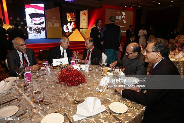 MJ Akbar Editorial Director India Today Mohamed ElBaradei Leader of the Opposition Egypt and Nobel Peace Laureate 2005 former CEC Navin Chawla former...