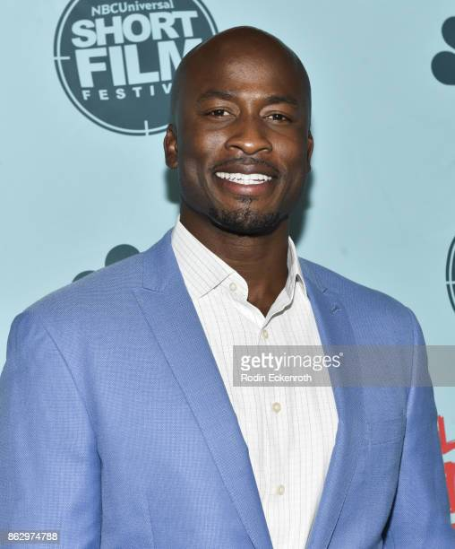 Akbar Gbajabiamila attends the 12th Annual NBCUniversal Short Film Festival Finale Screening at Directors Guild Of America on October 18 2017 in Los...