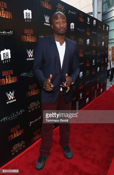 Akbar GbajaBiamila attends the Premiere Of WWE Studios' 'Birth Of The Dragon' at ArcLight Hollywood on August 17 2017 in Hollywood California