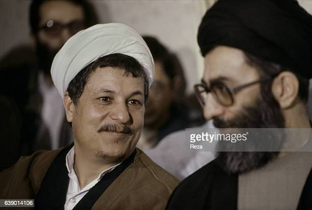 Akbar Hashemi Rafsanjani and Ayatollah Ali Khamenei current Supreme Leader of the Islamic Republic of Iran Influential Iranian politician and one of...