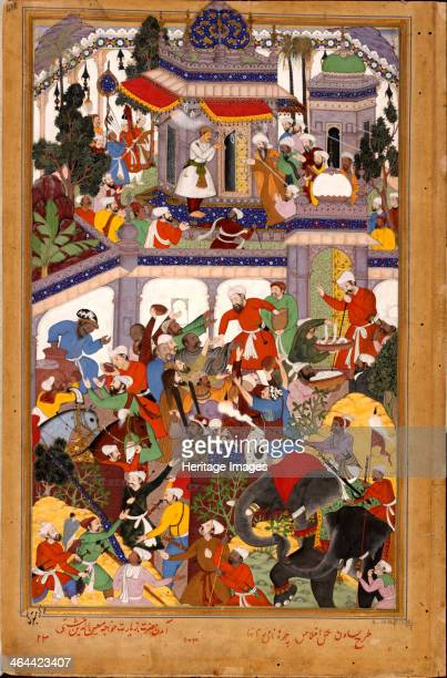 Akbar visits the shrine of Khwajah Mu'in adDin Chishti at Ajmer ca 1590 From a private collection