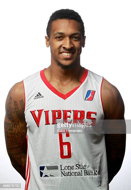 Akeem Richmond of the Rio Grande Valley Vipers poses for a photos during media day on Nov 6 2014 State Farm Arena in Hidalgo Texas NOTE TO USER User...
