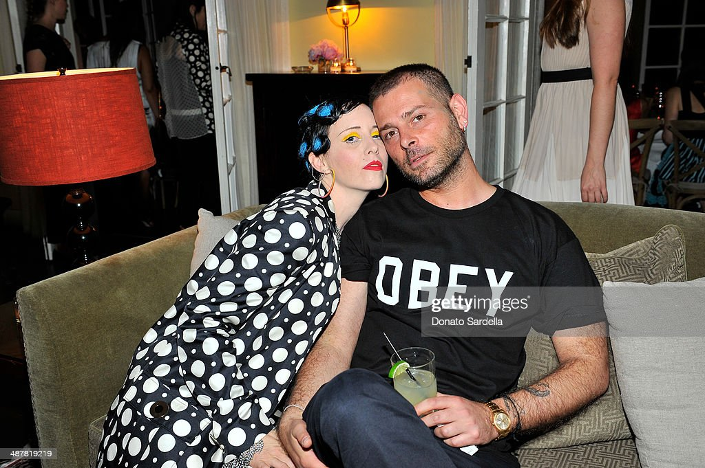 B. Akerlund and designer Fausto Puglisi attend A private dinner In honor of Fausto Puglisi of Emanuel Ungaro hosted by Barneys New York at Chateau Marmont on May 1, 2014 in Los Angeles, California.