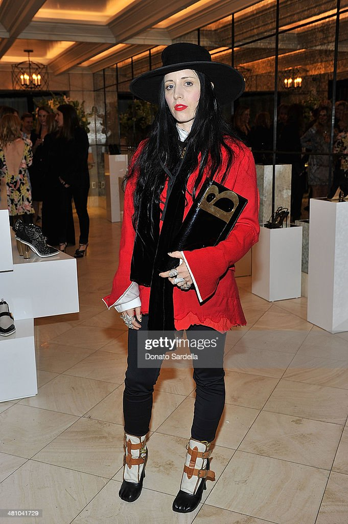 B Akerlund attends Nicholas Kirkwood dinner hosted by Emma Roberts and Jake Shears at Hotel Bel-Air on March 27, 2014 in Los Angeles, California.