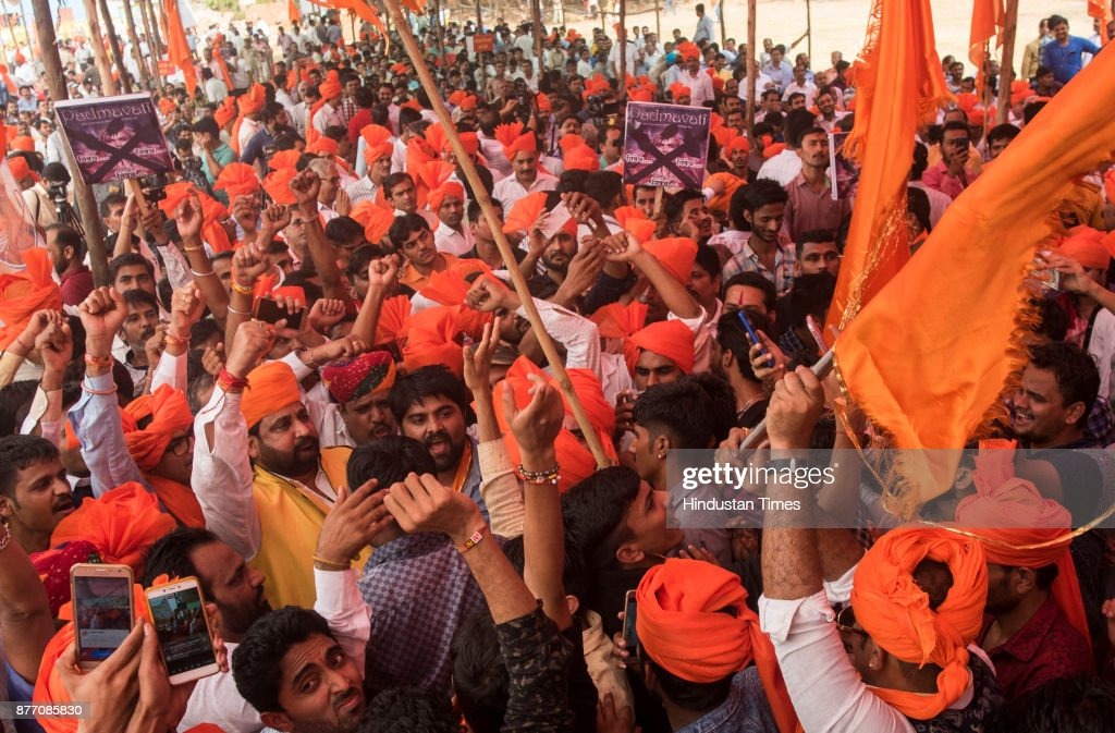 Akhil Bhartiya Maratha Mahasangh And Akhil Bhartiya Chatriya Sangh Protest Against Padmavati Movie