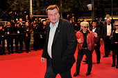 Aki Kaurismaki at the premiere of 'Le Havre' during the 64th Cannes International Film Festival