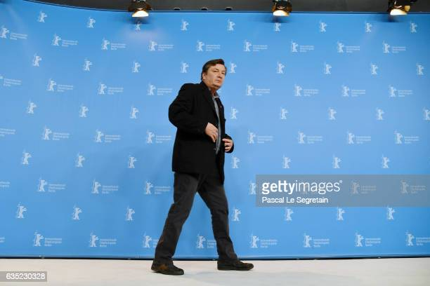 Aki Kaurismaki attends the 'The Other Side of Hope' photo call during the 67th Berlinale International Film Festival Berlin at Grand Hyatt Hotel on...