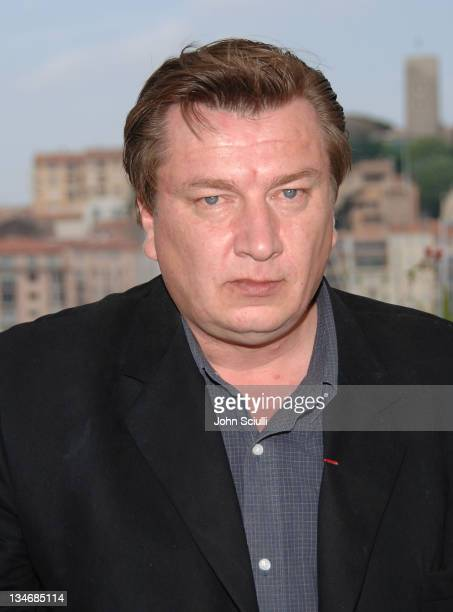Aki Kaurismaki director during 2006 Cannes Film Festival 'Laitakaurtunging Valot' Photocall at Palais des Festival Terrace in Cannes France