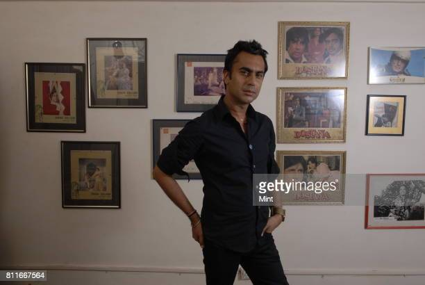 Aki Narula an Indian fashion designer and costume designer and wardrobe stylist in Hindi films poses for photograph during an interview with Mint