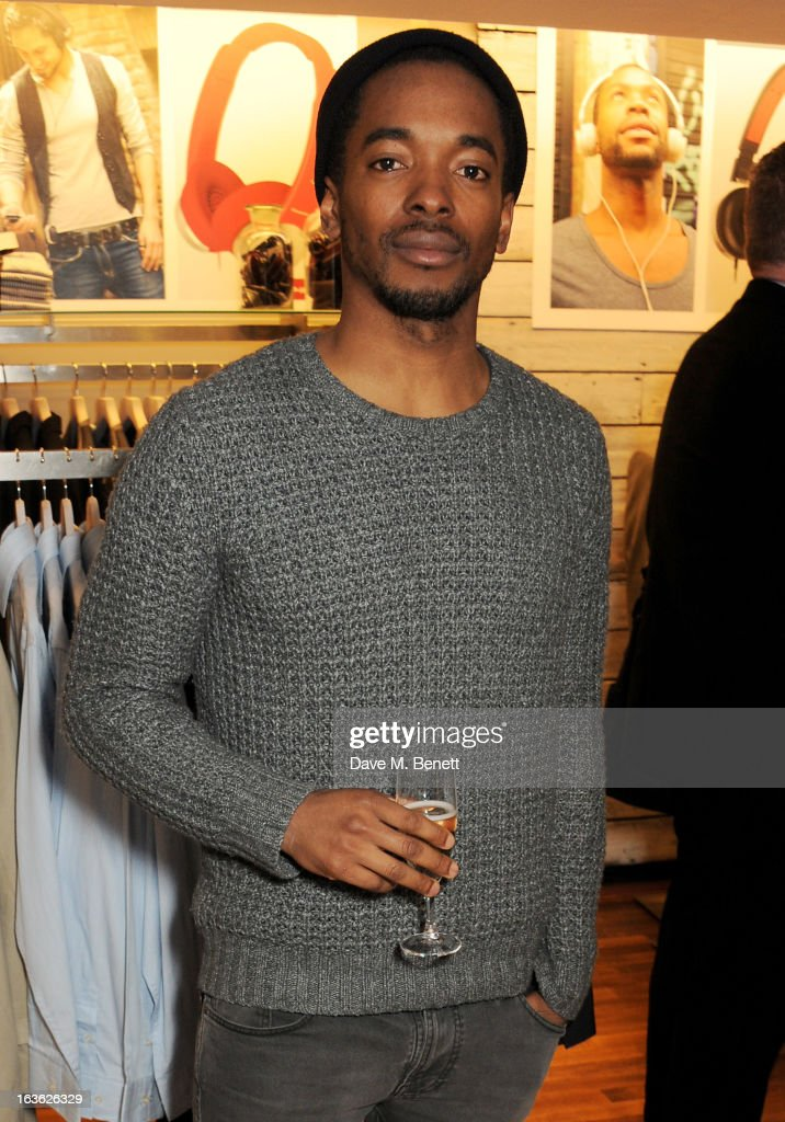 Aki Omoshaybi attends the Panasonic Technics 'Shop To The Beat' Party hosted by George Lamb at French Connection, Oxford Circus, on March 13, 2013 in London, England.