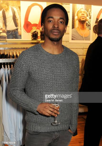 Aki Omoshaybi attends the Panasonic Technics 'Shop To The Beat' Party hosted by George Lamb at French Connection Oxford Circus on March 13 2013 in...