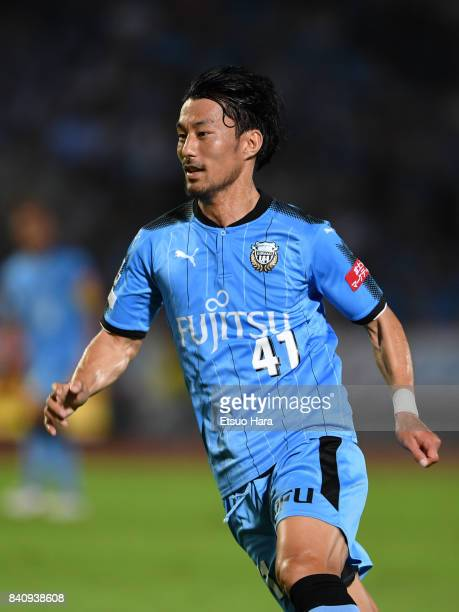 Akihiro Ienaga of Kawasaki Frontale in action during the JLeague Levain Cup quarter final first leg match between Kawasaki Frontale and FC Tokyo at...