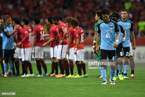 Akihiro Ienaga of Kawasaki Frontale looks on after the AFC Champions League quarter final second leg match between Urawa Red Diamonds and Kawasaki...