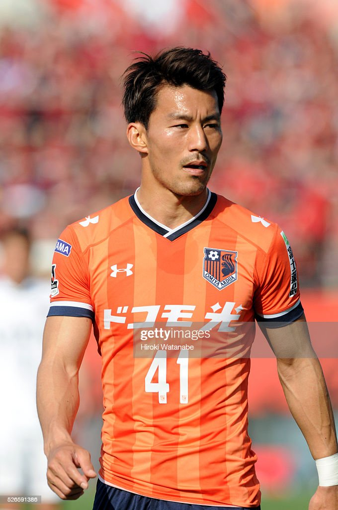 <a gi-track='captionPersonalityLinkClicked' href=/galleries/search?phrase=Akihiro+Ienaga&family=editorial&specificpeople=877001 ng-click='$event.stopPropagation()'>Akihiro Ienaga</a> of Omiya Ardija looks on during the J.League match between Omiya Ardija and Kashima Antlers at Nack 5 Stadium Omiya on April 30, 2016 in Saitama, Japan.