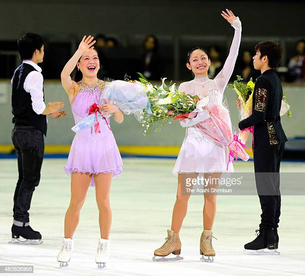 Akiko Suzuki and Miki Ando both announced retirement from the competitions wave to fans during the Nagoya Figure Skating Festival at Nippon Gaishi...