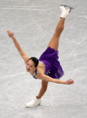 Akiko Suzuki competes in the Ladies' Singles Short Program during the 82nd All Japan Figure Skating Championships at Saitama Super Arena on December...