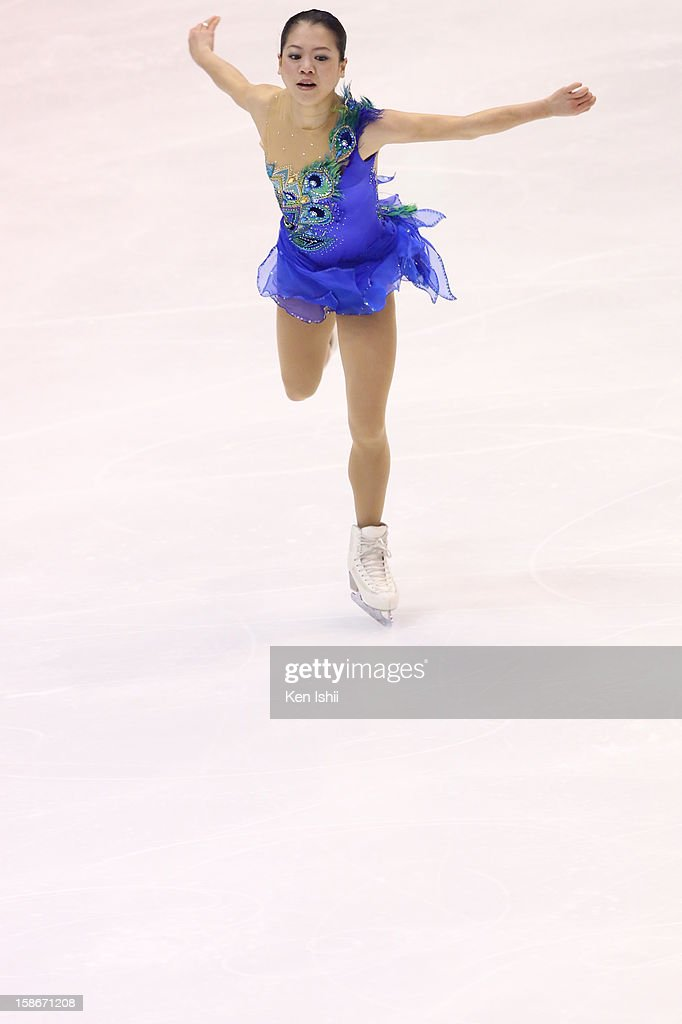 <a gi-track='captionPersonalityLinkClicked' href=/galleries/search?phrase=Akiko+Suzuki&family=editorial&specificpeople=5621783 ng-click='$event.stopPropagation()'>Akiko Suzuki</a> competes in the Women's Free Program during day three of the 81st Japan Figure Skating Championships at Makomanai Sekisui Heim Ice Arena on December 23, 2012 in Sapporo, Japan.