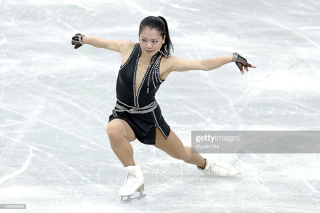 <a gi-track='captionPersonalityLinkClicked' href=/galleries/search?phrase=Akiko+Suzuki&family=editorial&specificpeople=5621783 ng-click='$event.stopPropagation()'>Akiko Suzuki</a> of Japan competes in the Ladies Short Program during day one of the ISU Grand Prix of Figure Skating NHK Trophy at Sekisui Heim Super Arena on November 23, 2012 in Rifu, Japan.