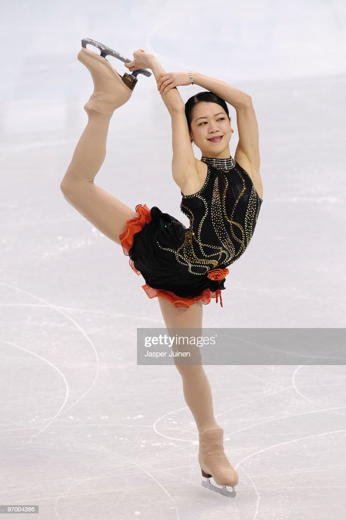 <a gi-track='captionPersonalityLinkClicked' href=/galleries/search?phrase=Akiko+Suzuki&family=editorial&specificpeople=5621783 ng-click='$event.stopPropagation()'>Akiko Suzuki</a> of Japan competes in the Ladies Short Program Figure Skating on day 12 of the 2010 Vancouver Winter Olympics at Pacific Coliseum on February 23, 2010 in Vancouver, Canada.
