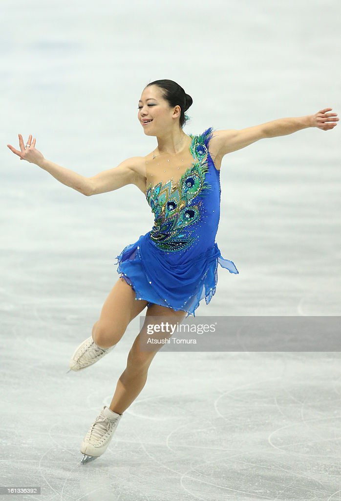 <a gi-track='captionPersonalityLinkClicked' href=/galleries/search?phrase=Akiko+Suzuki&family=editorial&specificpeople=5621783 ng-click='$event.stopPropagation()'>Akiko Suzuki</a> of Japan competes in the Women's Free Skating during day three of the ISU Four Continents Figure Skating Championships at Osaka Municipal Central Gymnasium on February 10, 2013 in Osaka, Japan.