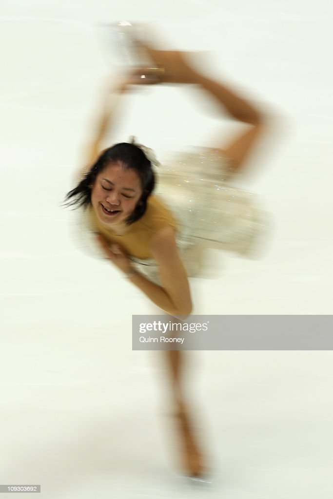 Akiko Suzuki of Japan skates in the Ladies Free Skating during day four of the Four Continents Figure Skating Championships at Taipei Arena on February 20, 2011 in Taipei, Taiwan.
